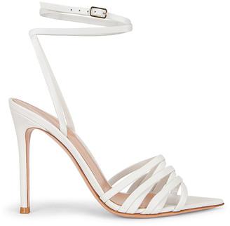 Gianvito Rossi Ankle Strap Sandals in White | FWRD