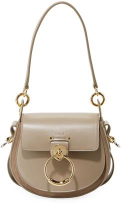 Chloé Tess Small Leather/Suede Camera Crossbody Bag