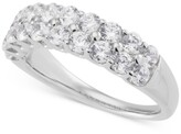 Thumbnail for your product : Grown With Love Lab Grown Diamond Double Row Ring (1-1/2 ct. t.w.) in 14k White Gold
