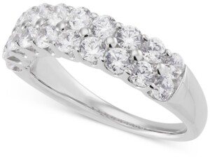 Grown With Love Lab Grown Diamond Double Row Ring (1-1/2 ct. t.w.) in 14k White Gold