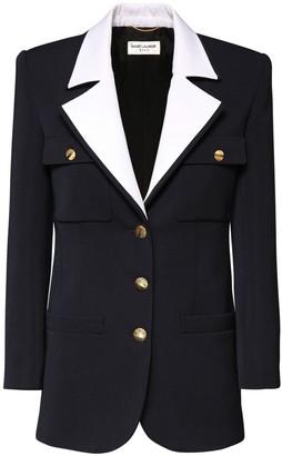 Saint Laurent Ottomane Wool Single Breast Jacket