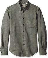 Naked & Famous Denim Men's Kimono Print Eyes Long Sleeve Button Down Shirt