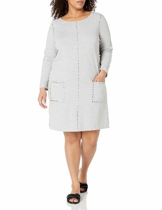 Joan Vass Women's Plus Size Studded Dress