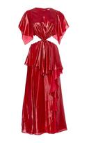 Prabal Gurung Cadman Cutaway Ruffle Dress