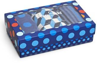Happy Socks Assorted 3-Pack Multicolor Socks