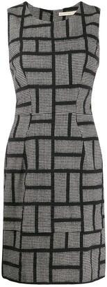 Prada Pre Owned 1990s Houndstooth Slim Fit Dress