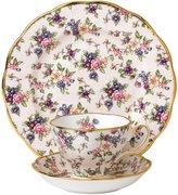 "Royal Albert 100 Years 1940 Teacup Saucer & Plate Set - English Chintz - 8"" - 3 pc"
