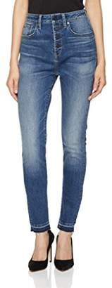 Fly London Hale Women's Sunny Sculpted High Rise Skinny Jean with Button