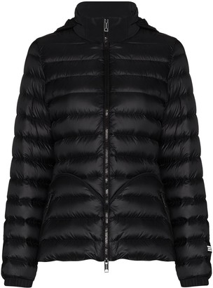 Burberry Concealed-Hood Zip-Up Puffer Jacket