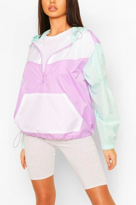 boohoo Pastel Contrast Panel Windbreaker