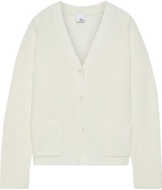 Iris & Ink Bluebell Ribbed Merino Wool-blend Cardigan