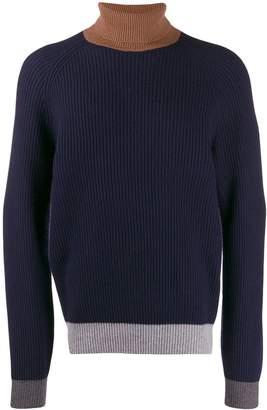 Brunello Cucinelli colour-block turtleneck jumper
