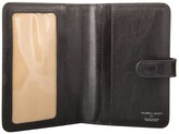 Maxwell Scott Bags Italian Crafted Black Leather Travel Document Case