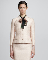 Dolce & Gabbana Fitted Jacquard Jacket, Powder Pink