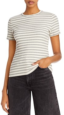 Theory Striped Ribbed Tee