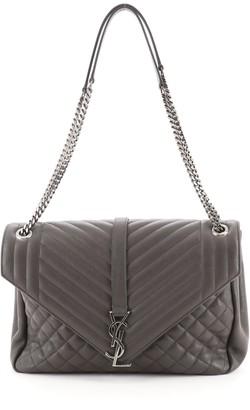 Saint Laurent Classic Monogram College Bag Mixed Matelasse Leather Medium