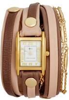 La Mer Leather & Lipari Chain Wrap Watch, 25mm