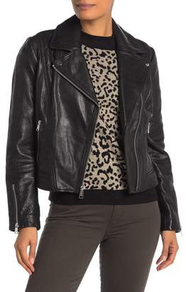 Andrew Marc Hastings Leather Moto Jacket