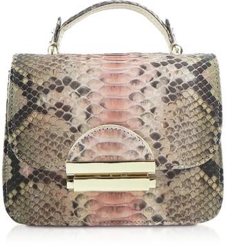 Ghibli Python Leather Satchel Bag