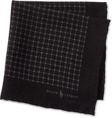 Polo Ralph Lauren Check Wool-Silk Pocket Square