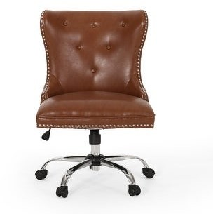 Christopher Knight Home Bedell Contemporary Tufted Swivel Office Chair