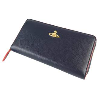 Vivienne Westwood Navy Leather Wallets
