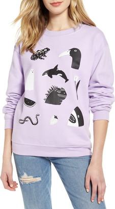 Lorien Stern Animal Graphic Cotton Blend Sweatshirt