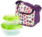 Fit & Fresh 3-Piece Morgan Insulated Lunch Bag and Portion Control Container Set