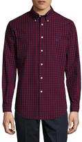 Brooks Brothers Val Mini Grid Plaid Long Sleeve Sportshirt