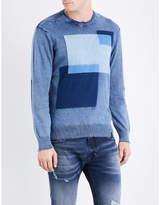 Diesel K-patch distressed cotton sweatshirt