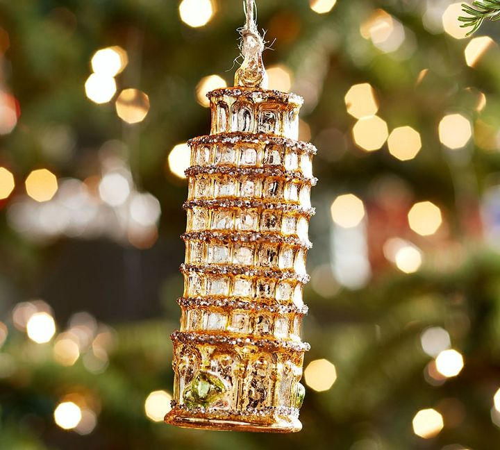 Pottery Barn Tower of Pisa Ornament