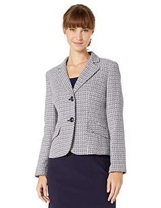 Le Suit Women's 2 Button Notch Collar Skirt Suit