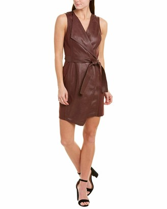 BCBGMAXAZRIA Azria Women's Layla Asymmetrical Pleather Dress