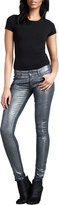 Mother The Looker Stone Blue Glimmer Skinny Jeans