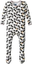 Kickee Pants Print Footie (Baby) - Midnight Scales - 12-18 Months