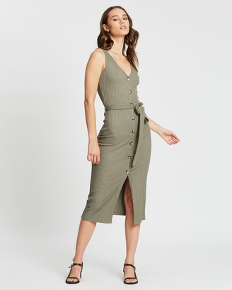 Atmos & Here Sophia Button Front Dress