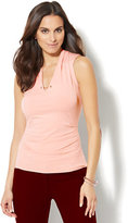 New York & Co. 7th Avenue Design Studio - Chain-Link Detail Sleeveless Shirred Top