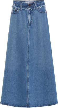 Nobody Denim Como High-Rise Denim Midi Skirt