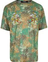 River Island MensGreen Jaded London camo dragon T-shirt
