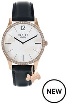 Radley Millbank Navy Leather Strap Watch With Iconic Dog Charm