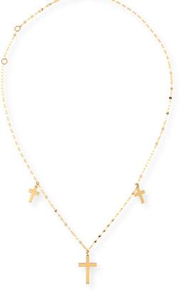 Lana Triple Cross Necklace in 14K Gold