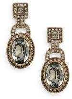 Heidi Daus Be Linked Swarovski Crystal Drop Earrings/Goldtone
