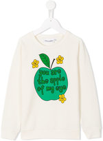 Mini Rodini Apple sweatshirt - kids - Organic Cotton/Spandex/Elastane - 3 yrs