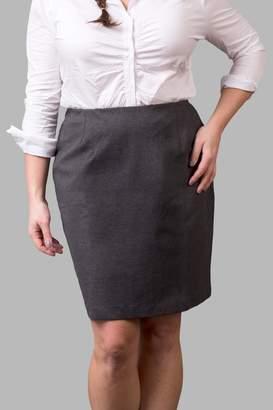 Love By Yona Ponte Pencil Skirt-Grey