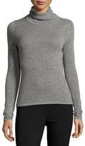 Elie Tahari Inga Paneled Mock-Neck Cashmere Sweater