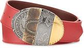 Maison Margiela Oval Mixed-Pattern Leather Belt