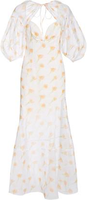 Rosie Assoulin Sliced & Diced Floral-Print Cotton-Blend Maxi Dress