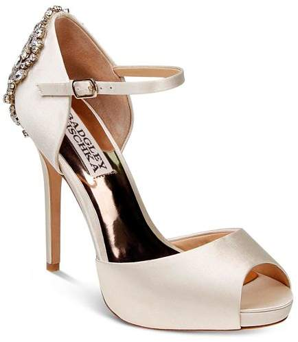 da7dfe2066f Dawn Embellished Satin Ankle Strap High-Heel Pumps