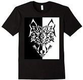 Wolf Men's Tribal Tattoo Wolves Animal Fantasy Tshirt Shirt 2XL