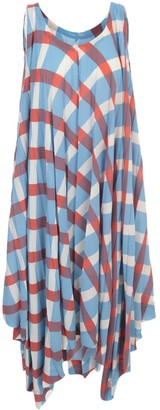 Issey Miyake Long Pleated Dress W/s Crew Neck